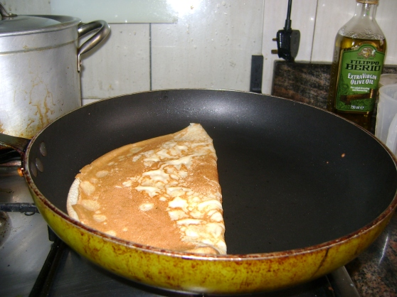 Pancake folded in half